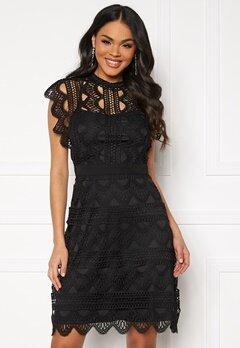 DRY LAKE Ira Dress 040 Black Crochet La Bubbleroom.eu