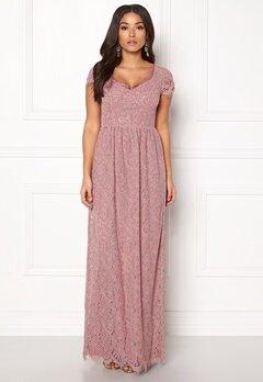 DRY LAKE Kayla Long Dress Dusty Rose Bubbleroom.eu