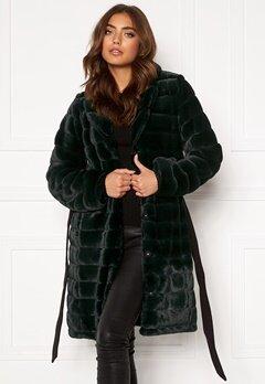 DRY LAKE Mini Bubble Faux Fur Coat 324 Green Faux Fur Bubbleroom.eu