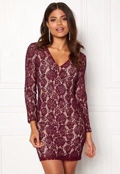 DRY LAKE Mythology Dress Burgundy Lace Bubbleroom.eu
