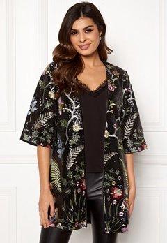 DRY LAKE Paola Kimono 024 Black Garden Bubbleroom.eu