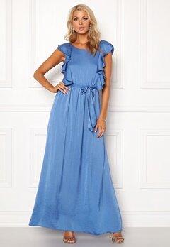 DRY LAKE Rivera Long Dress Royal Blue Satin Bubbleroom.eu