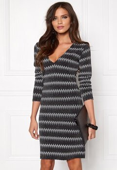 DRY LAKE Satellite Tight Dress Sparkling Zig Zag Bubbleroom.eu