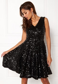 DRY LAKE Serena Dress Black Sequin Bubbleroom.eu