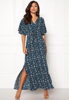 DRY LAKE Valentina Long Dress Cerise Print Bubbleroom.eu