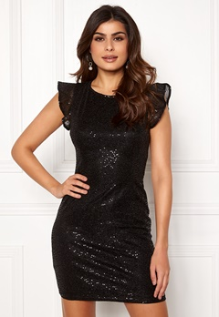 ONLY Duna Frill Short Dress Black Bubbleroom.eu