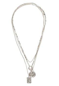 Pieces Elda Combi Necklace Silver Bubbleroom.eu