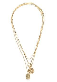 Pieces Elda Combi Necklace Gold Bubbleroom.eu