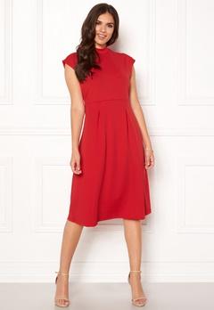 VILA Ellery S/L Dress Racing Red Bubbleroom.eu