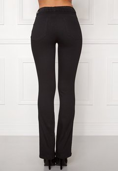 Happy Holly Elwira bootcut jeggings Black denim Bubbleroom.eu