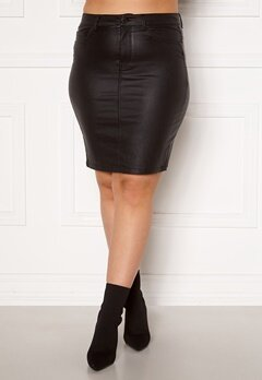 Only Carmakoma Emilia Rock Coated Skirt Black Bubbleroom.eu
