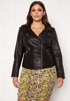 Only Carmakoma Emmy Faux Leather Biker Black Bubbleroom.eu