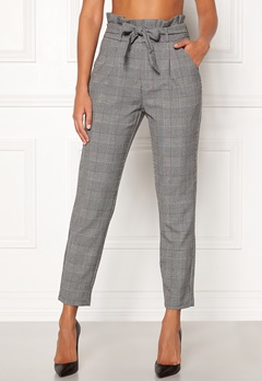 VERO MODA Eva HR Loose Paperbag Grey Checks: white Bubbleroom.eu