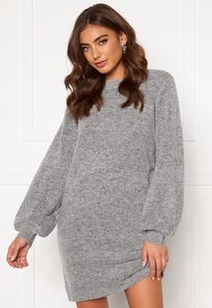 OBJECT Eve Nonsia Knit Dress Light Grey Melange Bubbleroom.eu