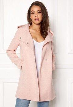 ONLY Fairy Mel Hooded Long Coat Rose Smoke Bubbleroom.eu