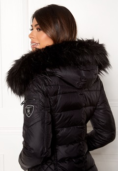 ROCKANDBLUE Faux Fur Trim Black Bubbleroom.eu