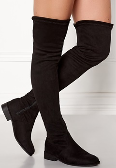 AX Paris Faux Suede High Boots Black Bubbleroom.eu