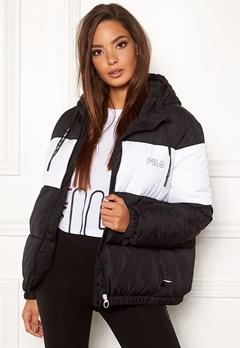 FILA Addy Oversized Paddes Jacket E09 Black-bright whi Bubbleroom.eu