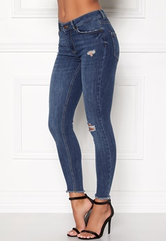 Pieces Five Delly Cropped Jeans Medium Blue Denim Bubbleroom.eu