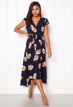 AX Paris Floral Cap Sleeve Dress Navy Bubbleroom.eu