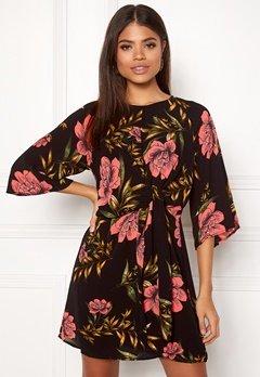 AX Paris Floral Tie Front Dress Black Bubbleroom.eu