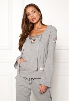 Odd Molly Flying High Hood Sweater Light Grey Melange Bubbleroom.eu