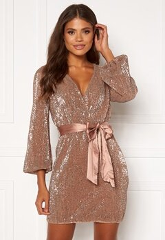 FOREVER NEW Di Sequin Mini Dress Copper Bubbleroom.eu