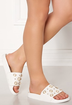 Francesco Milano Ciabattina Vernice Shoes Bianco Bubbleroom.eu