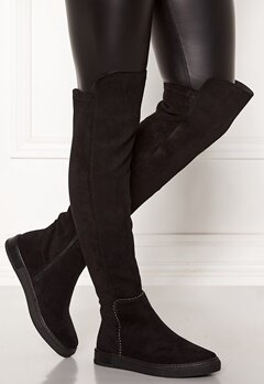 Francesco Milano Overknee Low Boots Nero Bubbleroom.eu