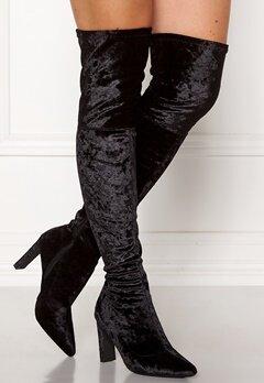 Francesco Milano Velvet Overknee Boots Nero Bubbleroom.eu
