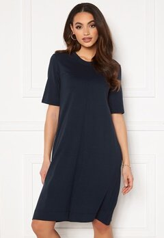 GANT A-Line Jersey Dress Evening Blue Bubbleroom.eu
