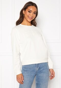 GANT Arch Logo C-Neck Sweat 113 Eggshell Bubbleroom.eu