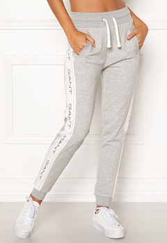 GANT Archive Sweat Pants 94 Light Grey Melang Bubbleroom.eu