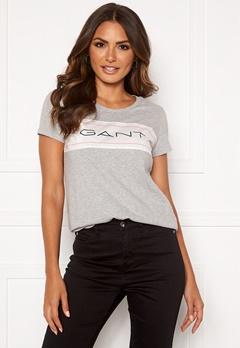 GANT Gant Archive SS T-Shirt 94 Light Grey Melang Bubbleroom.eu