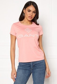 GANT Gant Lock Up S/S T-Shirt 659 Summer Rose Bubbleroom.eu