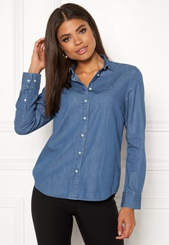 GANT Luxury Chambray Shirt 999 LT Indigo Bubbleroom.eu