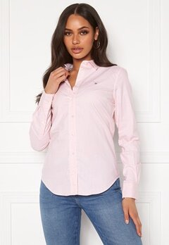 GANT Stretch Oxford Shirt 662 Light Pink Bubbleroom.eu