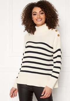 GANT Striped Turtleneck 113 Eggshell Bubbleroom.eu