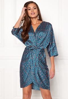 Twist & Tango Georgina Dress Blue Flower Print Bubbleroom.eu