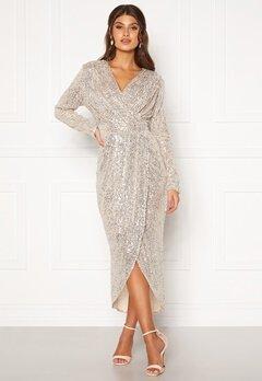 Girl In Mind Brooke Wrap Sequin Dress Silver Bubbleroom.eu