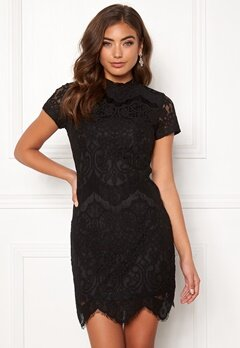265af1f78297 Girl In Mind Emilia Lace Mini Dress Black Bubbleroom.eu