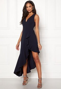 Girl In Mind Francesca V Neck Dress Navy Bubbleroom.eu