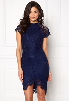 Girl In Mind Francis Lace Dress Navy Bubbleroom.eu