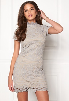 Girl In Mind Lace Dress Grey Bubbleroom.eu