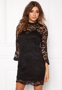 Girl In Mind Long Sleeve Lace Dress Black Bubbleroom.eu