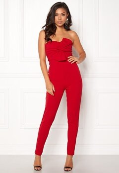 Girl In Mind Maisie Jumpsuit Red Bubbleroom.eu