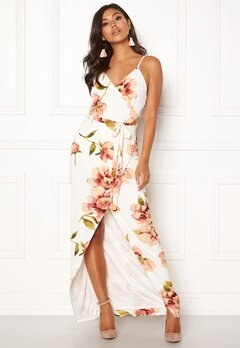 Girl In Mind Mia Floral Wrap Maxi White Bubbleroom.eu