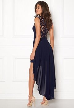 Girl In Mind Midi Lace Dress Navy Bubbleroom.eu