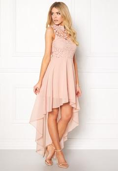 Girl In Mind Midi Lace Dress Pink Bubbleroom.eu