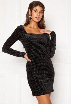 Girl In Mind Naomi Silver Dot Dress Black Bubbleroom.eu